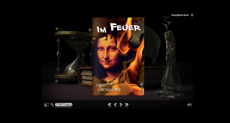 """Zum Flipbook """"Leseprobe"""" auf Verlagsseite."""